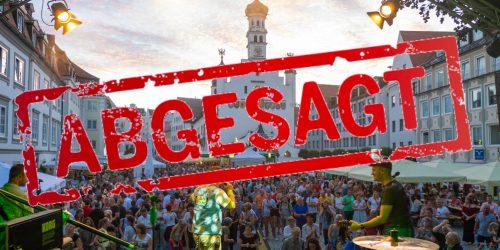 Absage Stadtfest und Tag der Musik